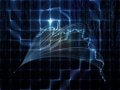 Unfolding of Technology Links Stock Illustration