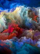 Colored Glacier Stock Illustration