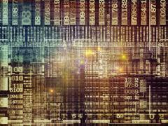 Inner Life of Technology Links Stock Illustration