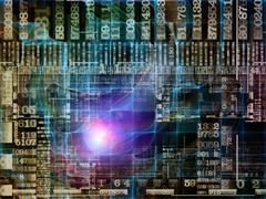 Virtual Technology Links Stock Illustration