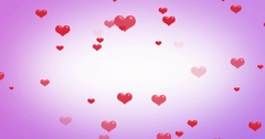 Hearts Background Loop ready file. Stock Footage