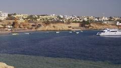 Beach in Egypt. Resort Red Sea Coast Stock Footage