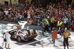 Back To The Future Characters Participate In Dragon Con Parade Stock Photos