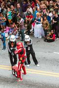 Hip Hop Storm Troopers Pose In Atlanta Dragon Con Parade Stock Photos