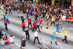 People In Star Trek Costumes Walk At Dragon Con Parade Stock Photos