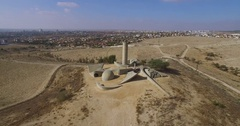 Beer sheva, Negev Brigade Monument Stock Footage