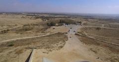 Negev Brigade Monument , israel, negev, beer sheva Stock Footage