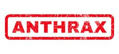 Anthrax Rubber Stamp Stock Illustration