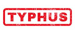Typhus Rubber Stamp Stock Illustration