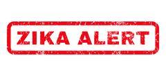 Zika Alert Rubber Stamp Stock Illustration