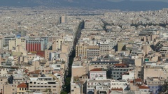 4K Greece Athens Athina Athen downtown aerial skyline Europe Stock Footage