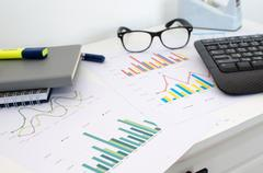 Graphs and charts Stock Photos
