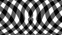 Black gingham diagonal background flow effect Stock Footage