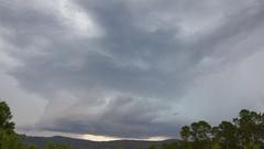 Beautiful structure Storm near Bilpin Stock Footage