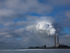Timelapse of a coal fired power plant Stock Footage