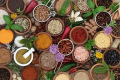 Herb and Spice Seasoning Stock Photos