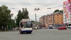 Kirov June 2016 panorama Komsomolskaya street beautiful home painted i Stock Footage