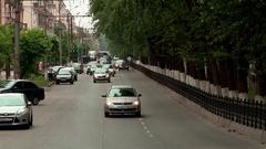Summer Kirov Oktyabrskiy prospect Stock Footage