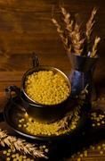 Dry round pasta Stock Photos