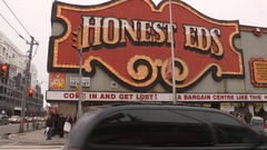 Honest ed's department store in Toronto Stock Footage