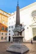 Egyptian Obelisk on Piazza della Minerva in Rome Stock Photos