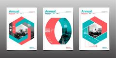 Annual report 2017,2018,2019,future, business, template layout design, cove.. Stock Illustration
