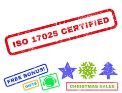 Iso 17025 Certified Text Rubber Seal Stamp Watermark with Bonus Stock Illustration
