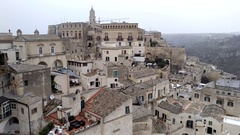 View of Sassi di Matera - Italy Stock Footage