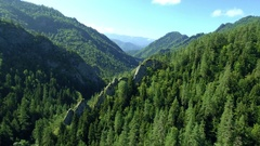 Georgia. Flying over Mountain landscape Stock Footage