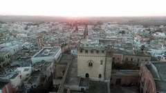 Ancient town of Salento, a maritime zone in southern Italy at sunset. Stock Footage