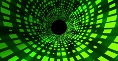 Dance Floor Tunnel 2D Animation 4K UHD Stock Footage