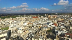 South Italy, Puglia city. Aerial Stock Footage