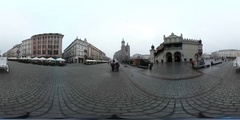 Christmas fair market at main square in the center of the old town Stock Footage