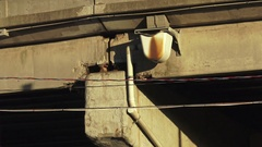 Damaged portion of the aging Gardiner Expressway 2016, Toronto, Canada Stock Footage