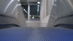 Escalator in a shopping mall, airport, subway Stock Footage