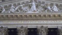 Wall Street Stock Exchange building, slider shot - New York, Manhattan Stock Footage