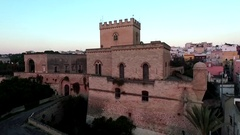 A castle in an ancient town of Salento, a maritime zone in southern Italy Stock Footage