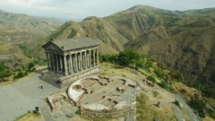 Ancient Garni Pagan Temple, the hellenistic temple in Republic of Armenia. Stock Footage