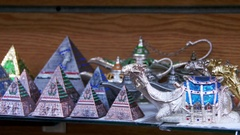 Egyptian Pyramids in the Gift Shop Stock Footage