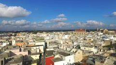 Salento, southern Italy. Aerial video of an ancient maritime town Stock Footage