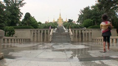 Overview of the tample in Thailand Stock Footage