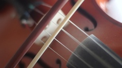 Violin playing [open string bowing] Stock Footage