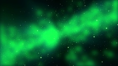 Floating Particles Against Cloudy Green Background Stock Footage