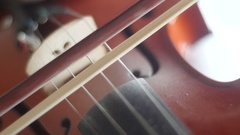 Violin playing [smooth string crossings] Stock Footage
