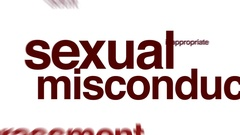 Sexual misconduct animated word cloud. Stock Footage