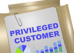 Privileged Customer - business concept Stock Illustration