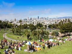 San Francisco Dolores Park Recreation Stock Footage