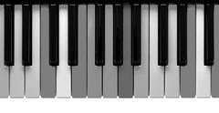 Grey piano keys Stock Photos