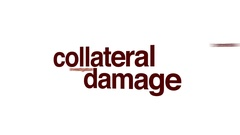 Collateral damage animated word cloud. Stock Footage