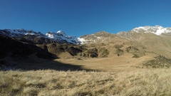 Time Lapse of a great landscape on the Orobie Alps. Cardeto natural lakes. Stock Footage